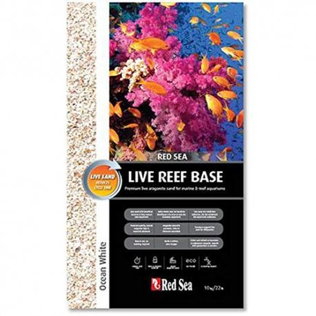 Red Sea Live Reef Base Ocean White (белый живой песок)